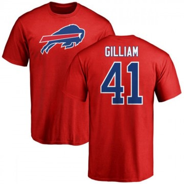 Men's Reggie Gilliam Buffalo Bills Name & Number Logo T-Shirt - Red