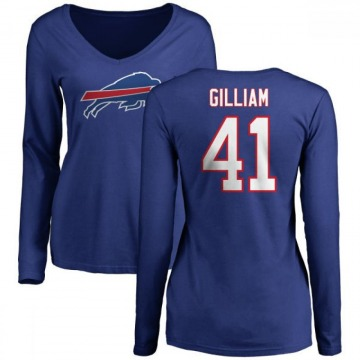 Women's Reggie Gilliam Buffalo Bills Name & Number Long Sleeve T-Shirt - Royal