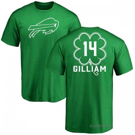 Youth Reggie Gilliam Buffalo Bills Green St. Patrick's Day Name & Number T-Shirt