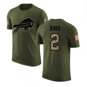 Youth Tyler Bass Buffalo Bills Olive Salute to Service Legend T-Shirt